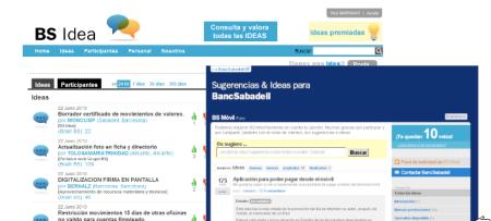 Banco Sabadell BS Idea crowdsourcing Finno