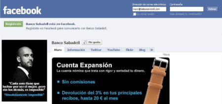 Banco Sabadell Facebook social media Finno
