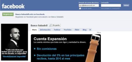 Banco Sabadell Facebook social media Finno