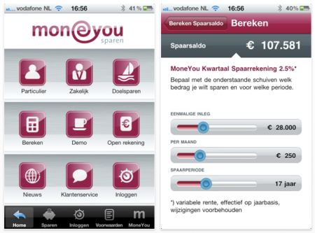 MoneYou SpaarApp iPhone iPad Finno