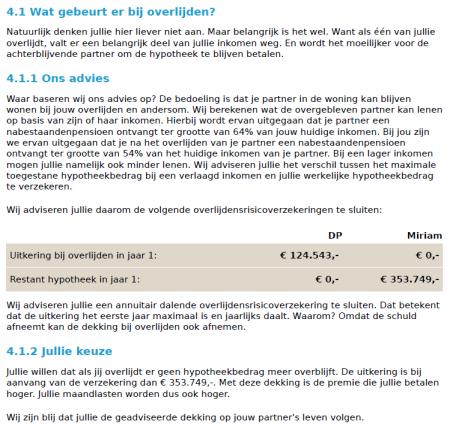 eyeopen online hypotheekadvies Fragment adviesrapport finno