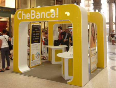 CheBanca pop up branch Rome 2011 finno