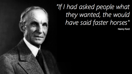 Henry Ford quote - disruptive innovation finno