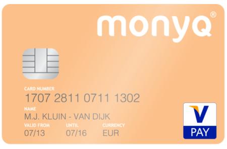 Monyq betaalpas Vpay visa finno