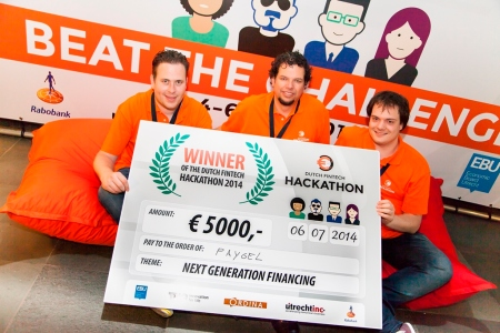 winnaars Dutch Fintech Hackathon Paygel next generation financing finno